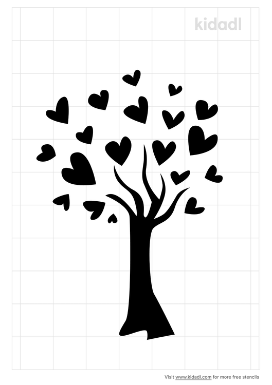 tree-with-initial-heart-stencil