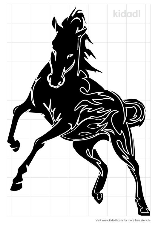 tribal-horse-stencil