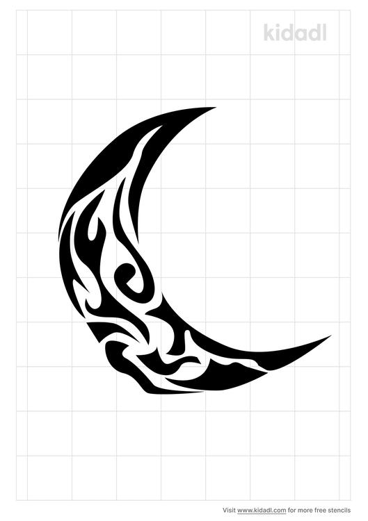 tribal-moon-phase-stencil