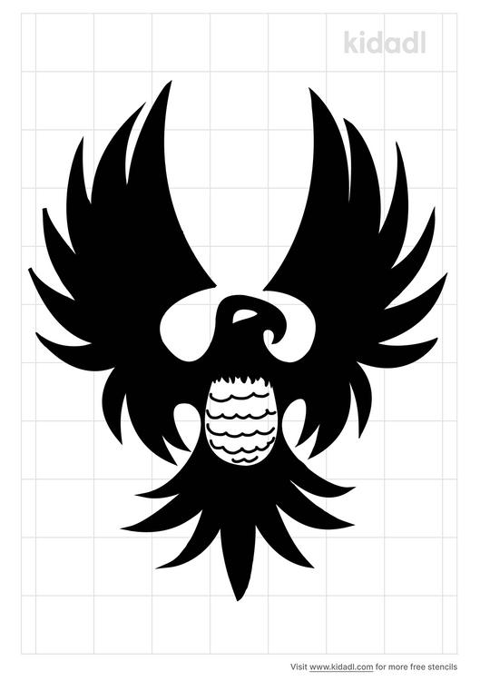 tribal-thunderbird-stencil