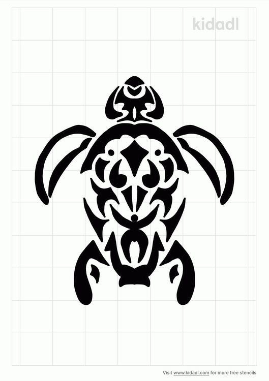 tribal-turtle-stencil