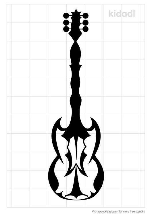 tribal-ukulele-stencil