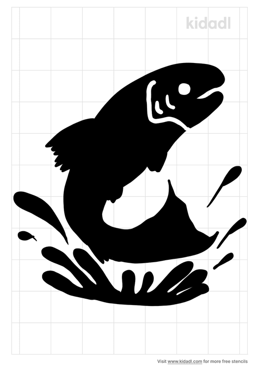 trout-jumping-stencil
