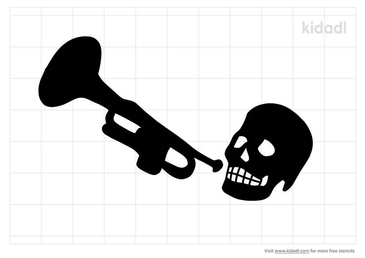 trumpet-skeleton-stencil