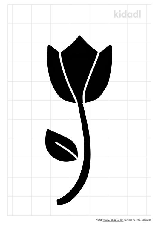 tulip-stem-stencil