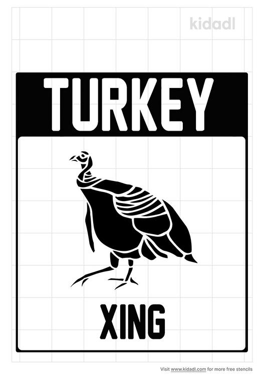 turkey-crossing-stencil