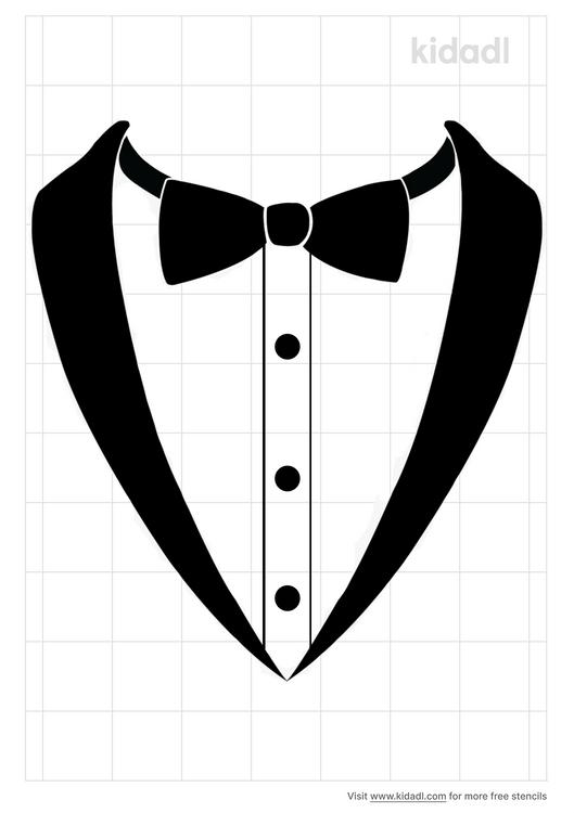 tuxedo-shirt-stencil