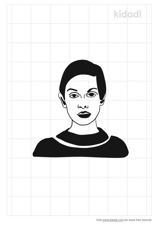 twiggy-outline-stencil