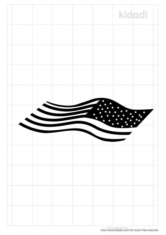 twisted-american-flag-stencil