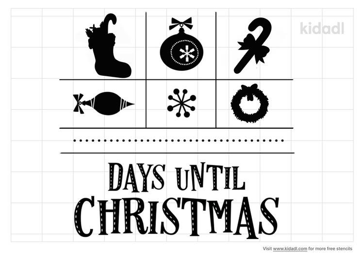 until-christmas-stencil