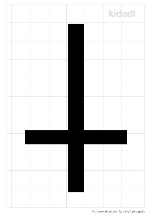 upside-down-cross-stencil