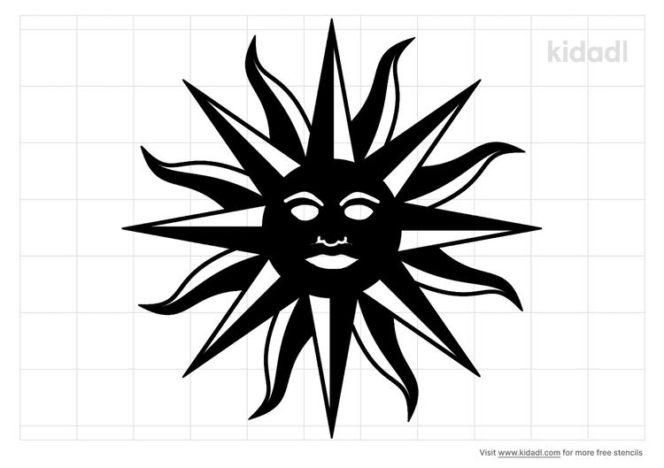 uruguay-flag-sun-stencil