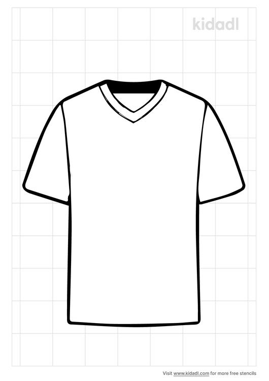v-neck-shirt-stencil
