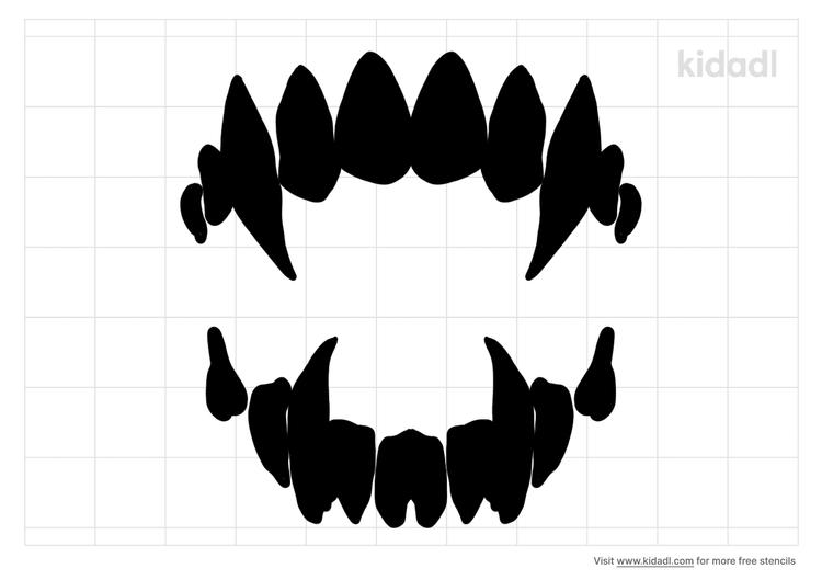vampire-teeth-stencil