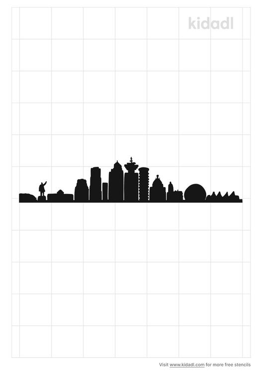 vancouver-bc-skyline-stencil