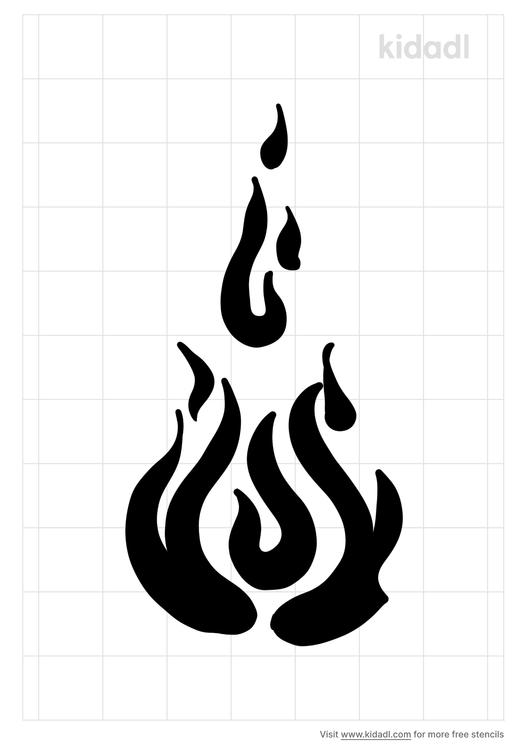 vertical-flame-stencil