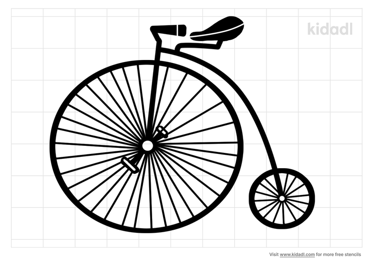 vintage-bicycle-stencil