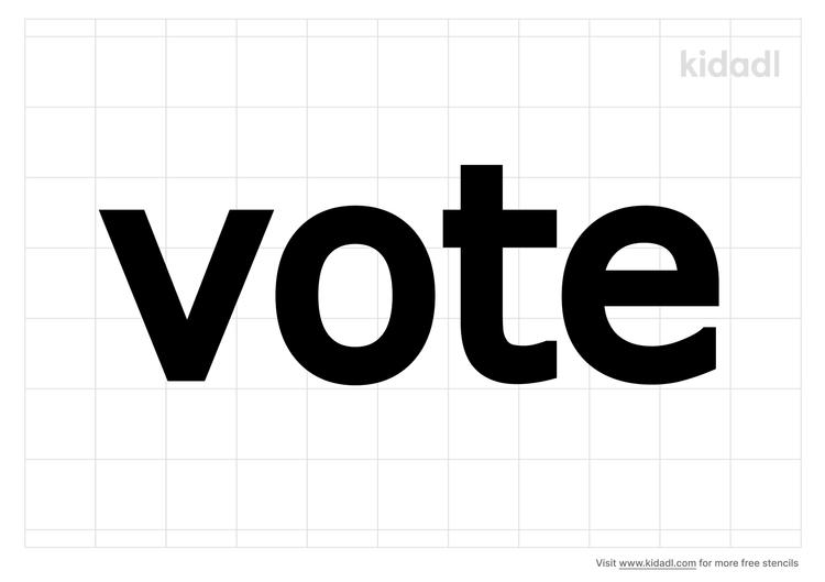 vote-stencil