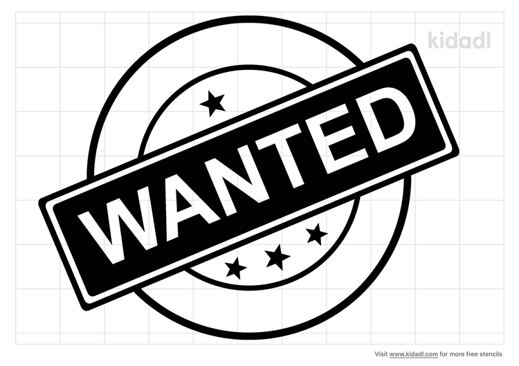 wanted-stencil