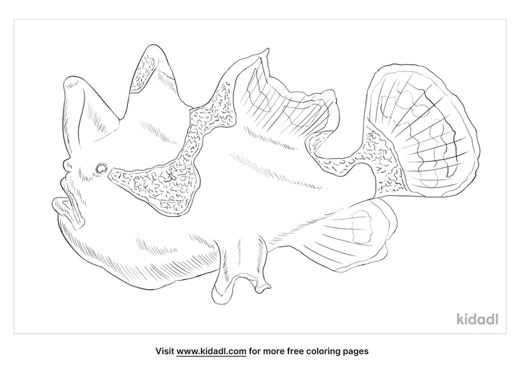 warty-frogfish-coloring-page