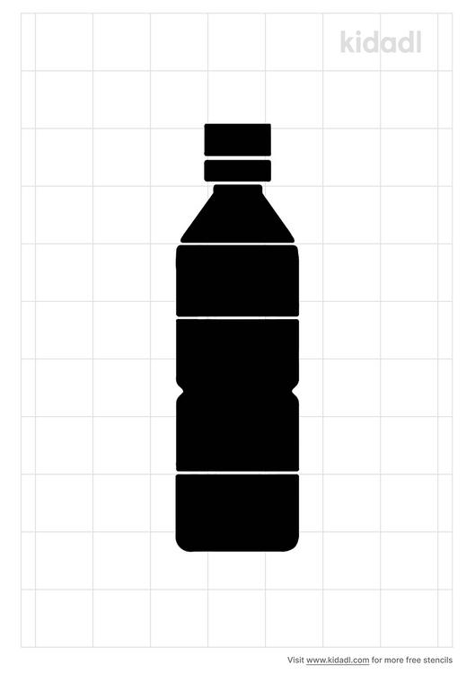 water-bottle-stencil