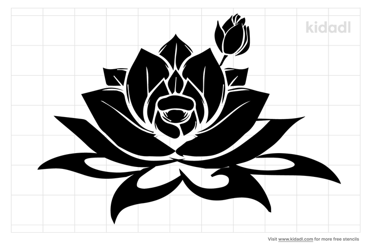 water-lily-stencil