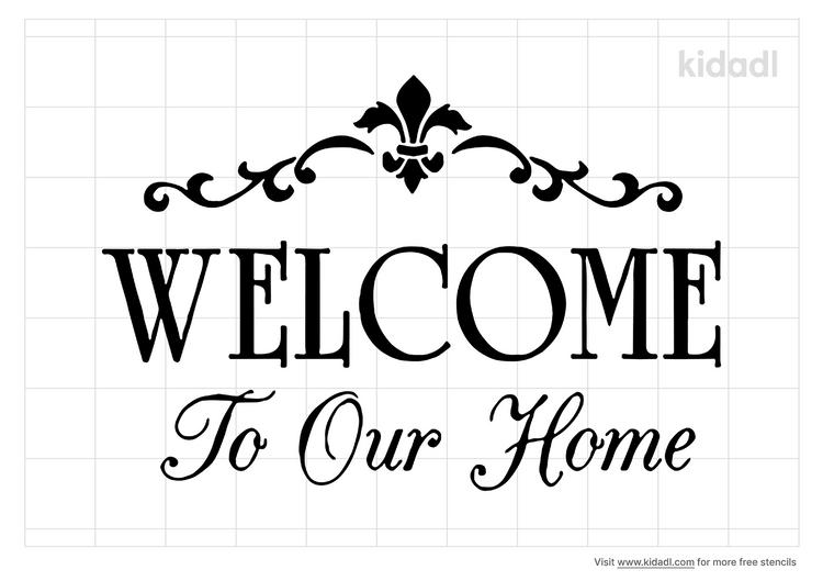 welcome-home-stencil