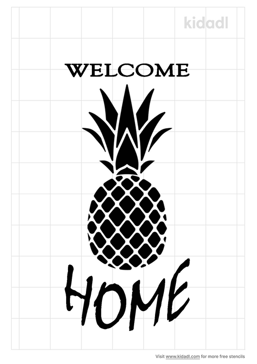 welcome-pineapple-stencil