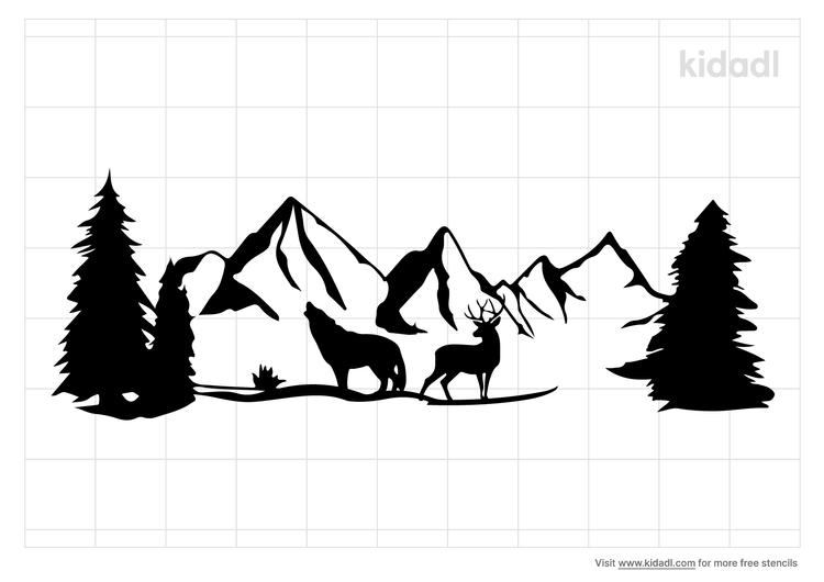 wilderness-stencil