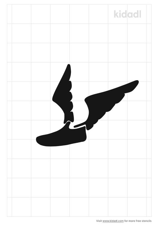 winged-sneaker-stencil