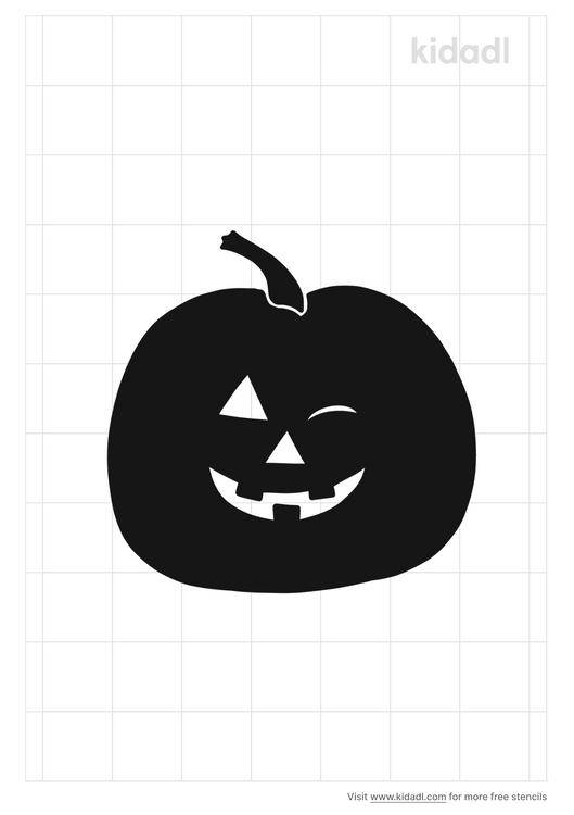 winking-ghost-pumpkin-stencil