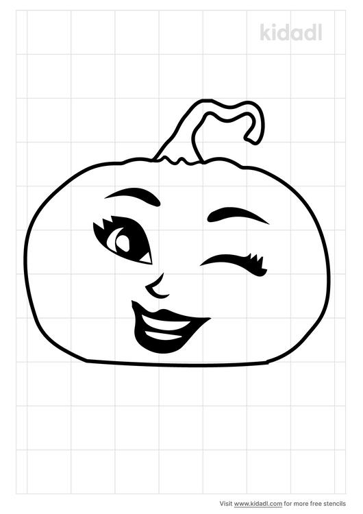winking-pumpkin-stencil