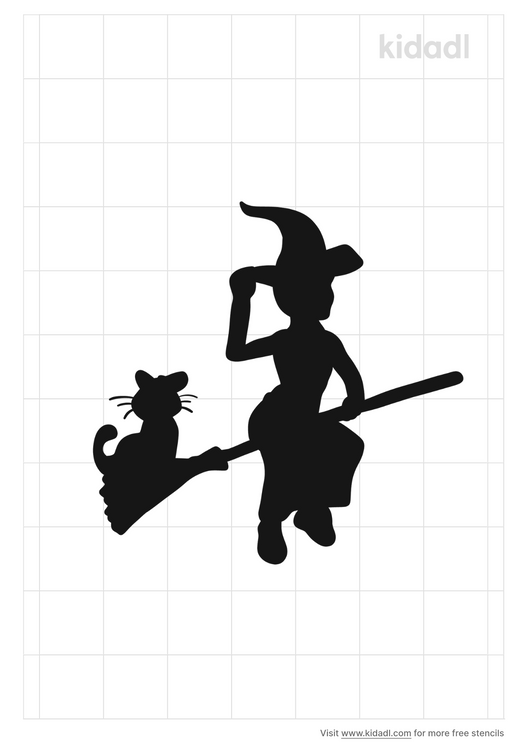 witch-and-cat-stencil