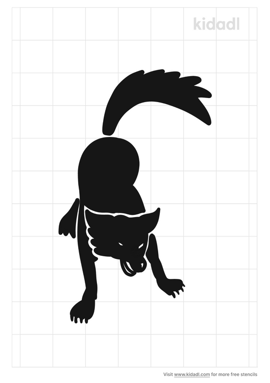 wolf-attack-stencil