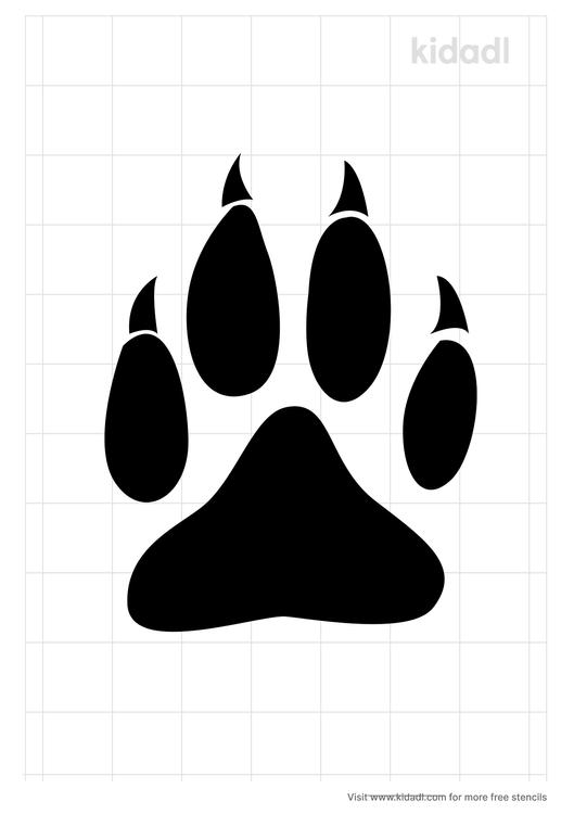 wolf-claw-stencil