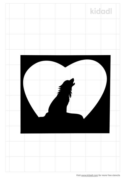 wolf-heart-stencil