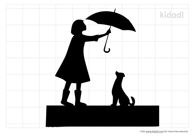 woman-holding-umbrella-with-dog-stencil