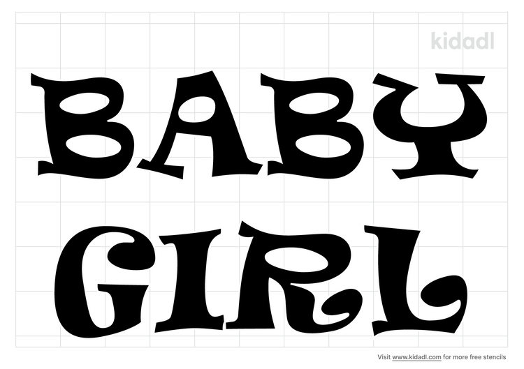 words-baby-girl-stencil