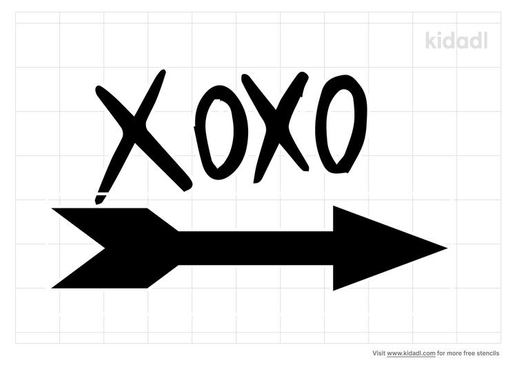 xoxo-stencil