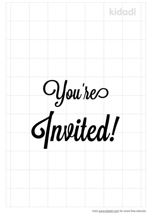 you-re-invited-stencil