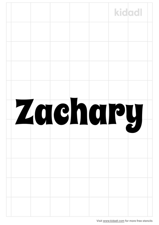 zachary-name-stencil