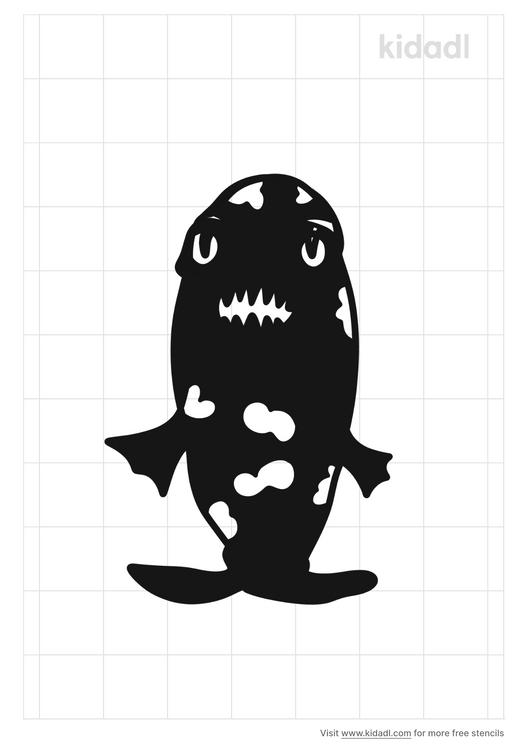 zombie-fish-stencil