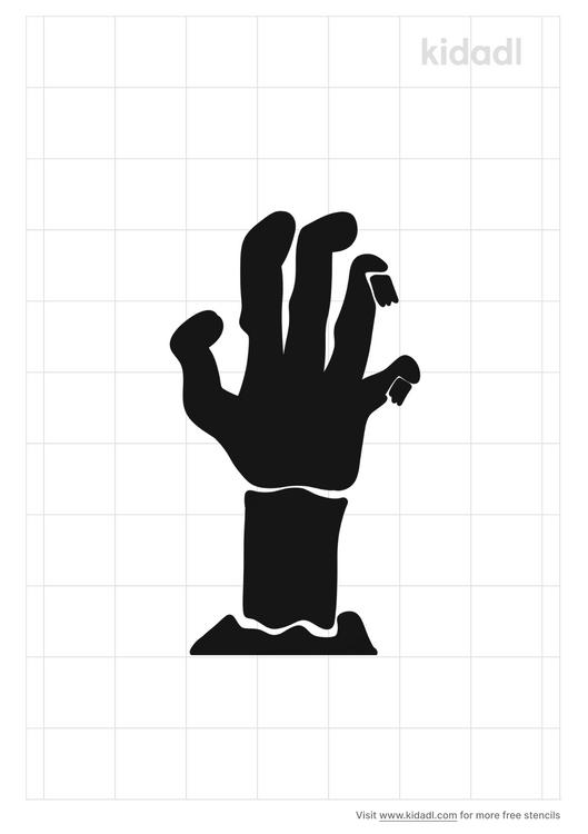 zombie-hand-stencil