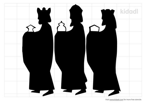 3-wise-men-stencil
