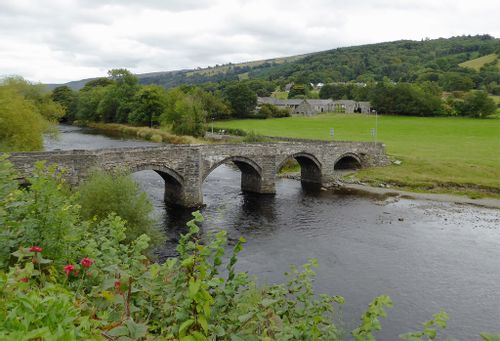 Bridge over River Dee in Denbighshire.