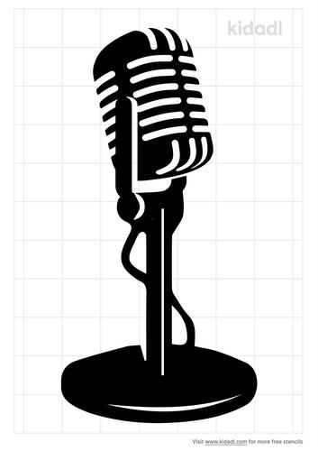 80s-radio-mic-stencil