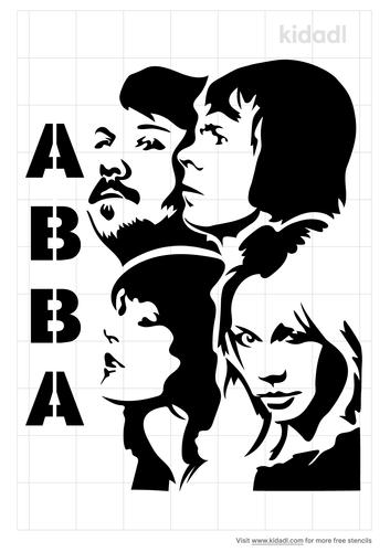 ABBA-band-stencil.png