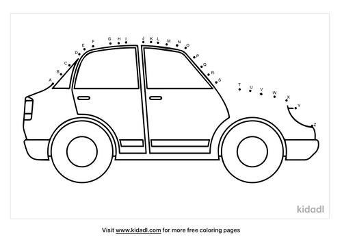 a-z-car-dot-to-dot
