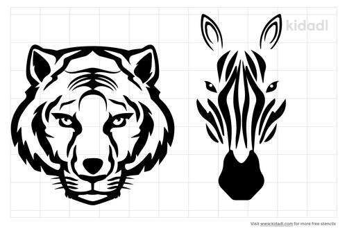 african-animals-stencil
