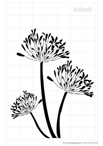 african-lily-stencil